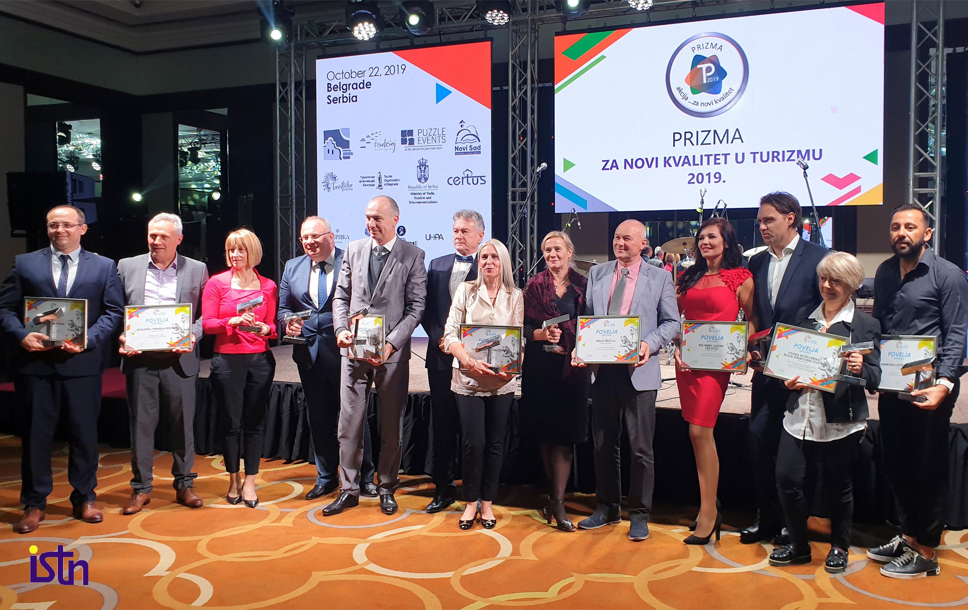 Dobitnici priznanja Turisticka prizma 2019, ISTN