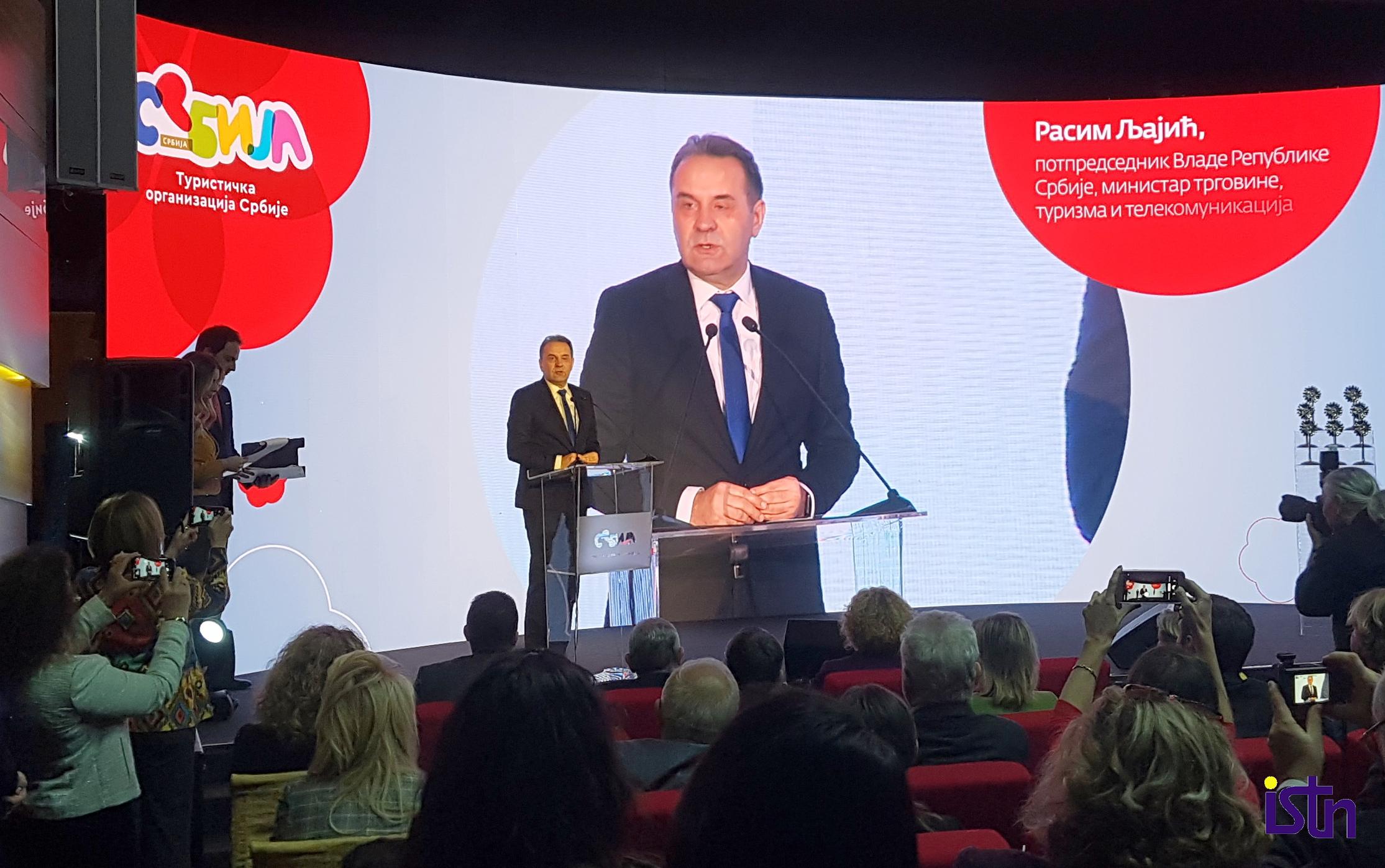 Rasim Ljajic, ministar turizma Srbije, ISTN
