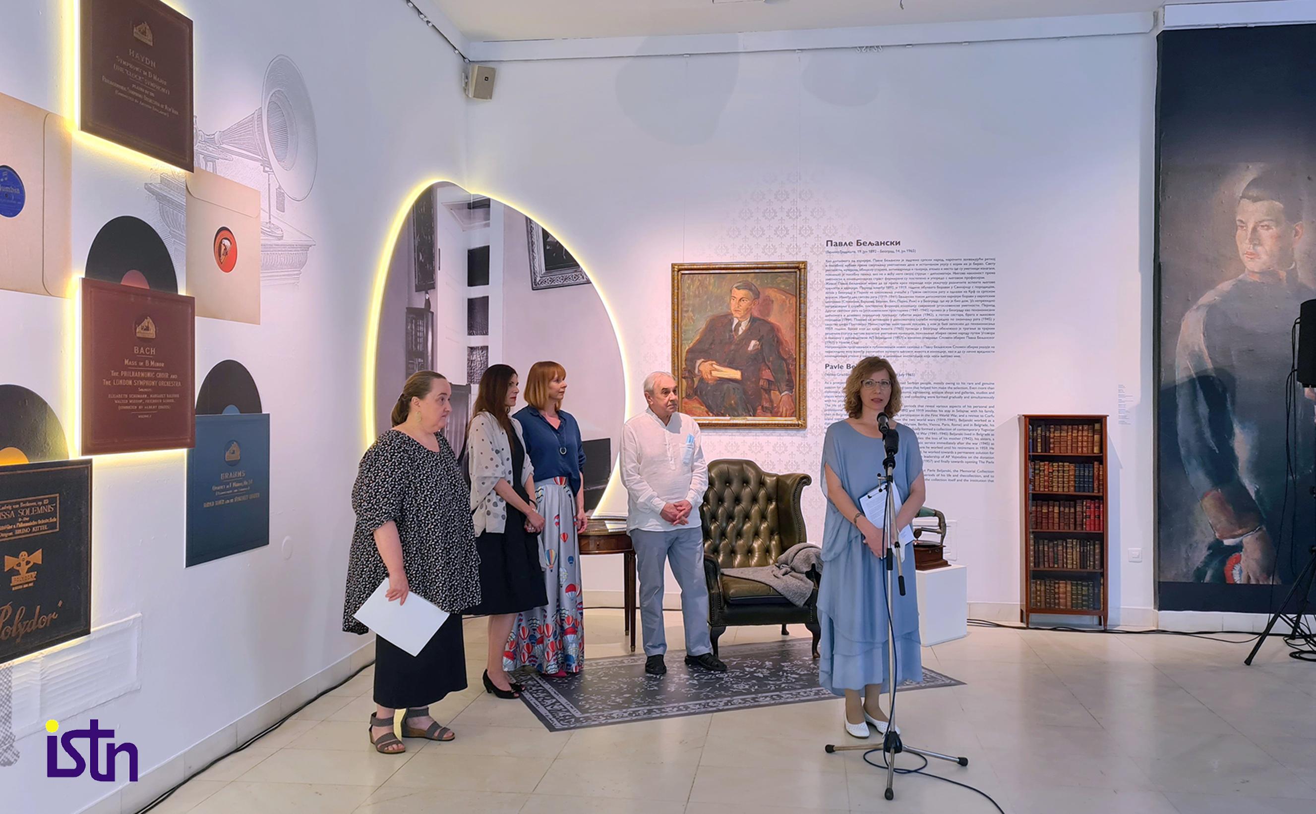 Izlozba Muzicki intermeco Spomen zbirke Pavla Beljanskoig, Milana Kvas, ISTN