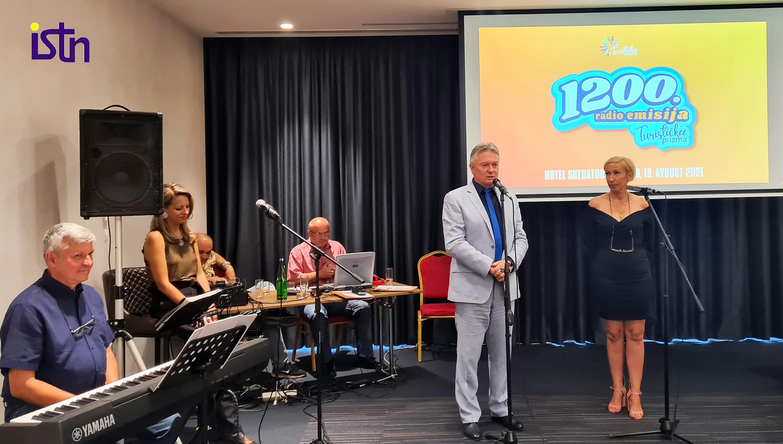 Djordje Mihajlovic, urednik Turisticke prizme, na snimanju 1200 emisije, ISTN