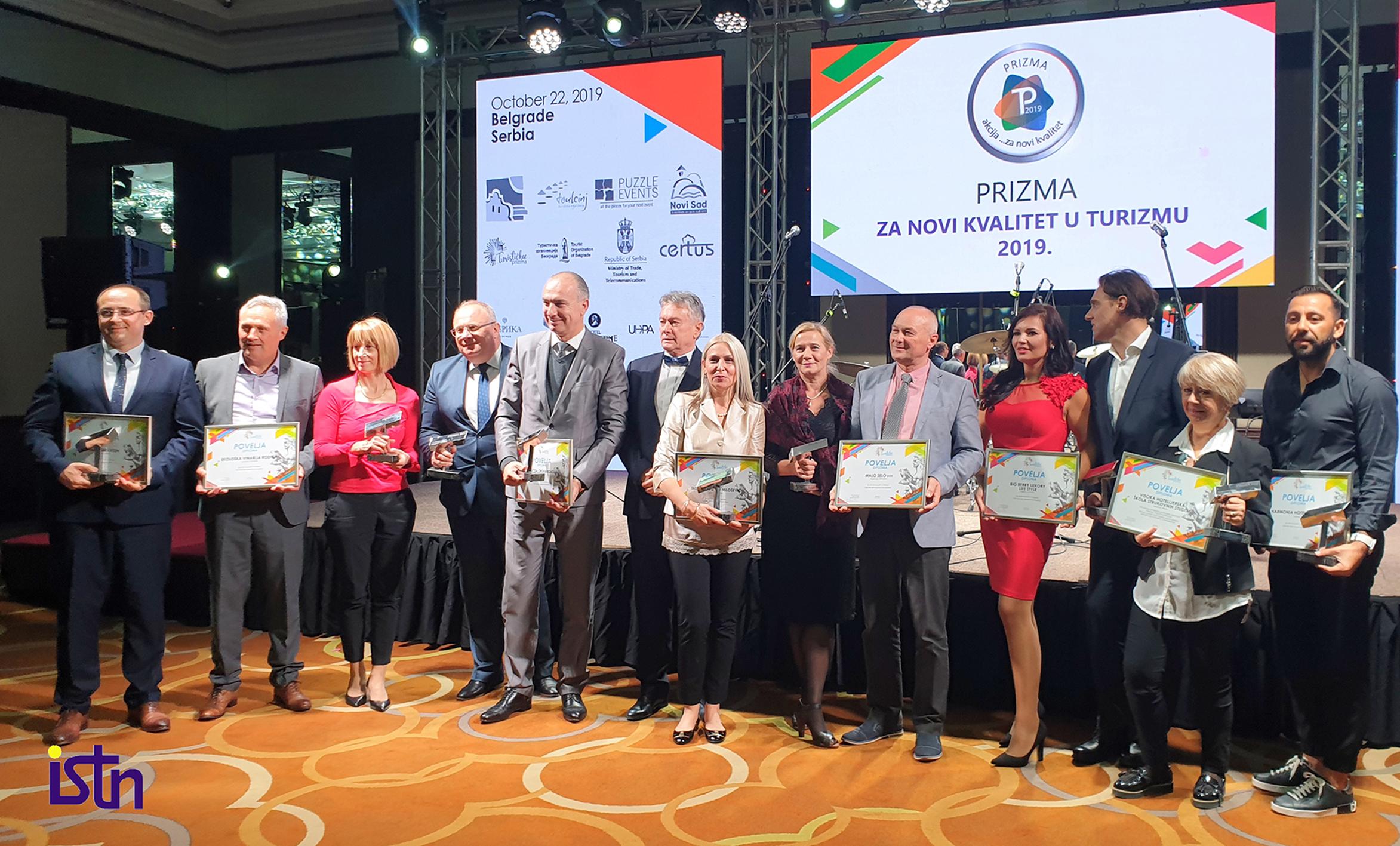 Dodela nagrade Turisticka prizma za novi kvalitet u turizmu 2019, ISTN